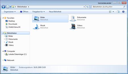 Bibliotheken von Windows 7