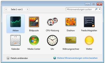 Windows 7 Gadgets