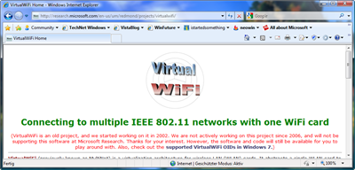Microsoft Research Webseite - VWiFi
