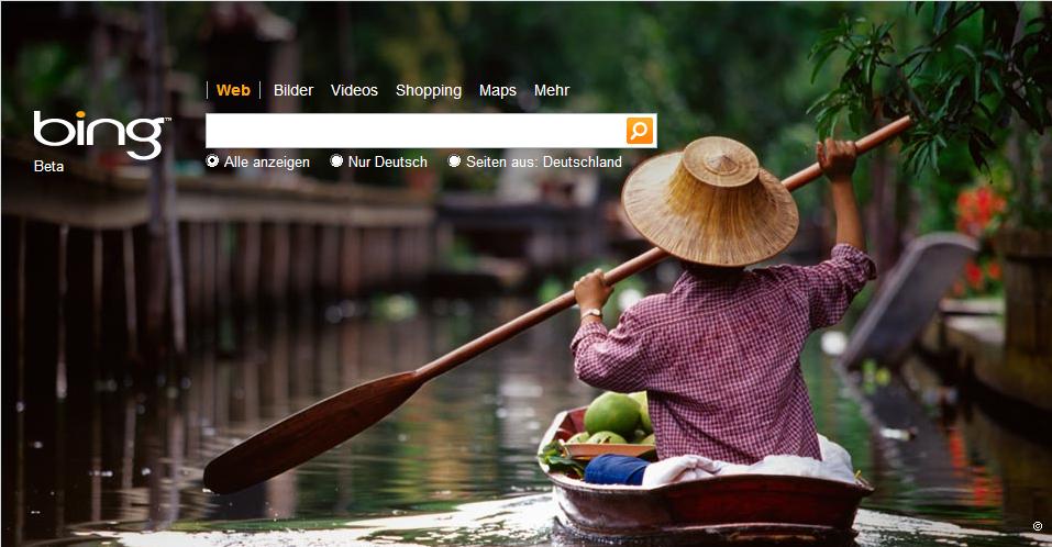 Bing Hintergrundbild