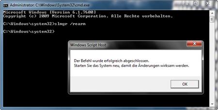 Windows 7-Testzeitraum einfach verlängern