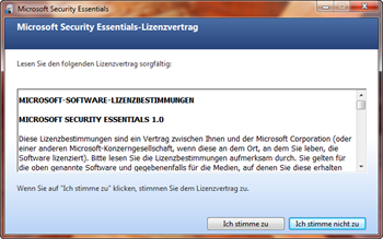 Installation von Microsoft Security Essentials