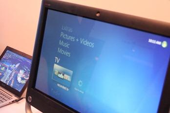 Ein Touchgerät von HP auf der CES 2012