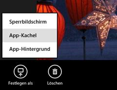 App-Kachel festlegen