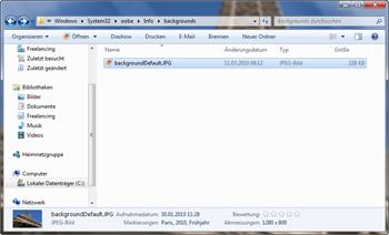 Eigenes Bild als Hintergund im Logon-Screen