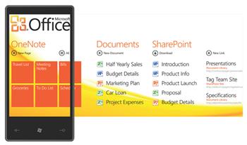Office auf dem Windows Phone 7 Series