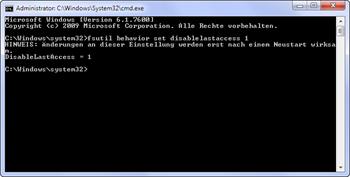 Zeitstempel in NTFS deaktivieren